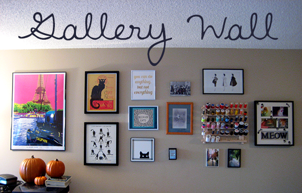 Gallery wall// Boots & Cats