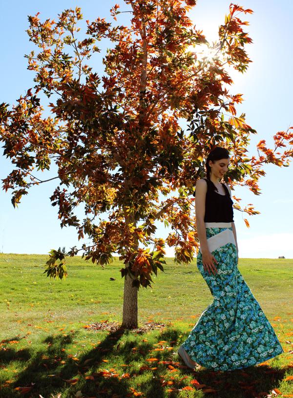 Summer to Autumn: Gabriola Skirt // Boots & Cats