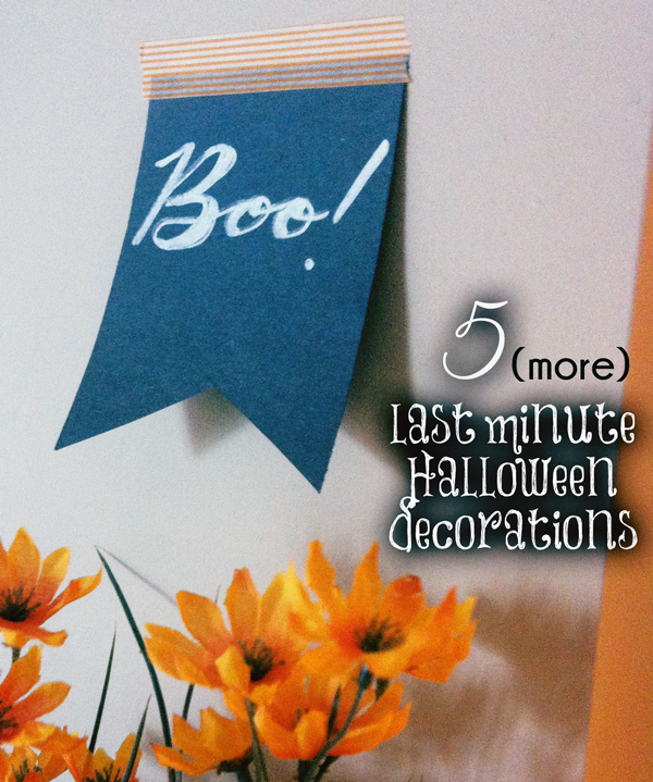 5 Eerily Easy Halloween Decorations // Boots & Cats