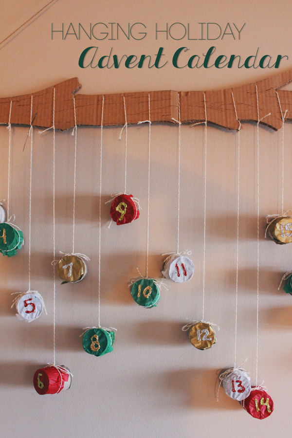 Wall Hanging Advent Calendar // Boots & Cats