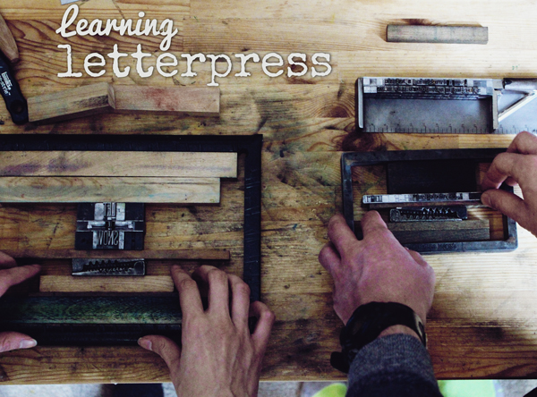Learning Letterpress // Boots & Cats