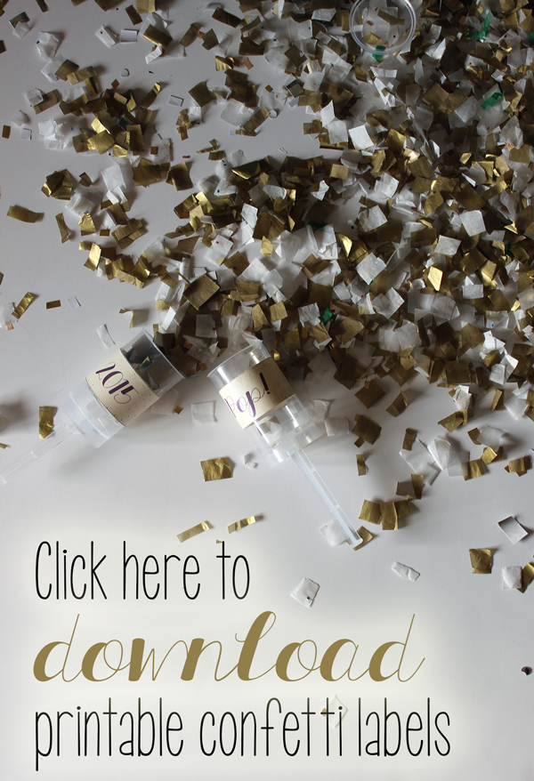 How to make your own confetti launcher. plus FREE printable // Boots & Cats