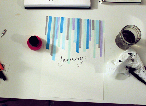 DIY Art Calendar // Boots & Cats