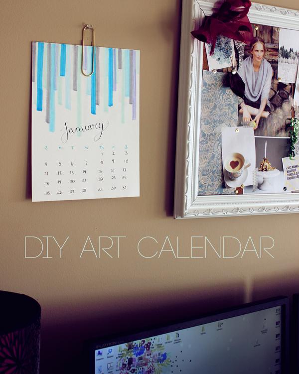 Diy Calendar January : Make something diy art calendar boots and cats