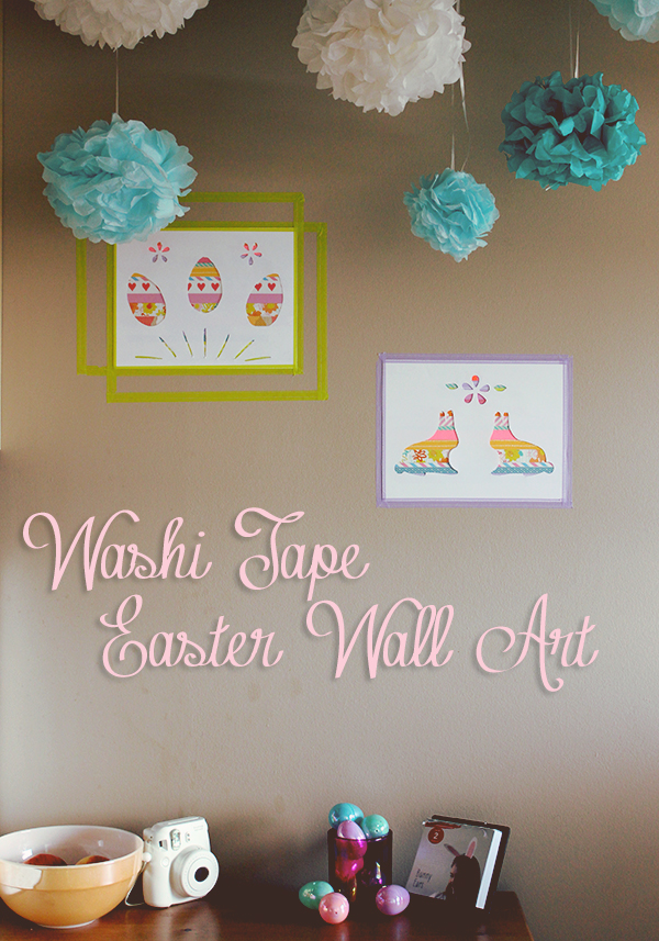 Easy Easter Washi Tape Art // Boots & Cats