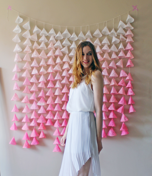DIY Ombré Paper Backdrop // Boots & Cats
