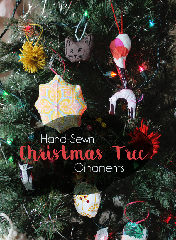 Christmas tree ornaments from fabric scraps // Boots & Cats