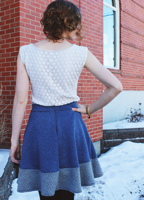 Cozy Quilted Hollyburn Skirt // Boots and Cats