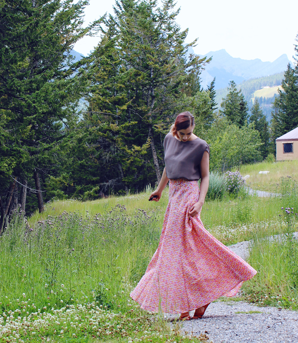 Geometric Gabriola Skirt // Boots and Cats