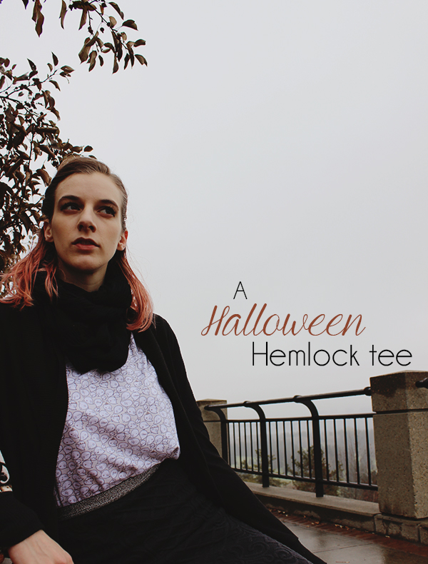 A Halloween Hemlock Tee // Boots and Cats