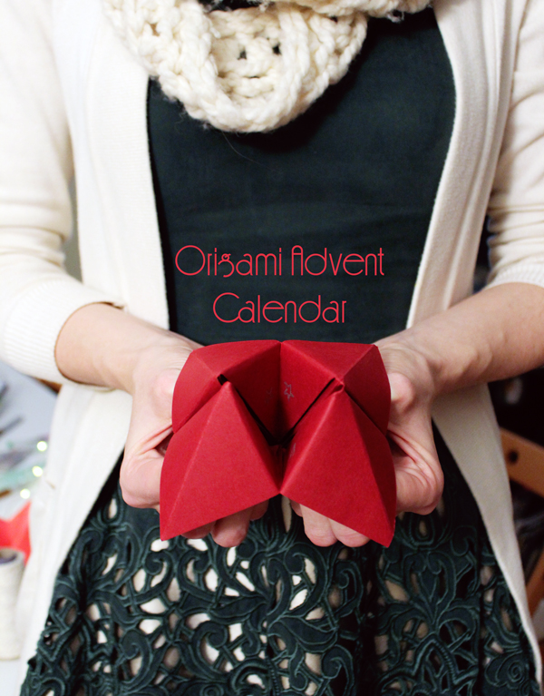 Origami Advent Calendar // Boots and Cats